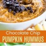 Chocolate Chip Pumpkin Hummus Pinterest Collage