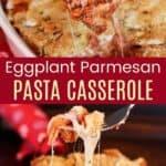 Eggplant Parmesan Casserole Pinterest Collage