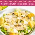 Grilled Chicken Caesar Salad Pin Template Dark
