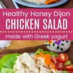 Healthy Honey Dijon Chicken Salad Pin Template Long