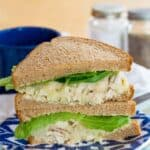 Healthy Honey Dijon Chicken Salad with Apples Recipe Image with title