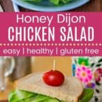 Honey Dijon Chicken Salad Pin Template Long