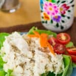 Honey Dijon Chicken Salad Recipe Image with title