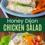 Honey Dijon Chicken Salad Recipe Pinterest Collage