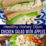 Honey Dijon Chicken Salad with Apples Pinterest Collage