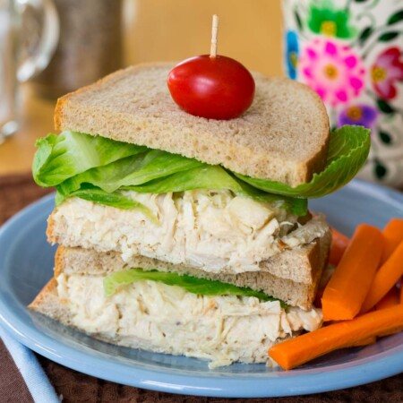 Chicken Salad with apples on rye bread