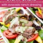 Mango Tomato Steak Salad Pin Template Dark