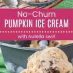 No-Churn Pumpkin Ice Cream Pin Template Long