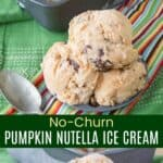 No-Churn Pumpkin Nutella Ice Cream Pinterest Collage