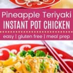 Pineapple Teriyaki Instant Pot Chicken Pin Template Long