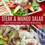 Steak Mango Salad Pinterest Collage