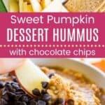 Sweet Pumpkin Dessert Hummus Pin Template Long