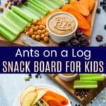 Ants on a Log Snack Board Pinterest Collage