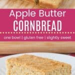 Apple Butter Cornbread Pin Template Long