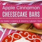 Apple Cinnamon Cheesecake Bars Pin Template Long