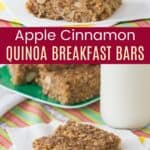 Apple Cinnamon Quinoa Breakfast Bars Pinterest Collage