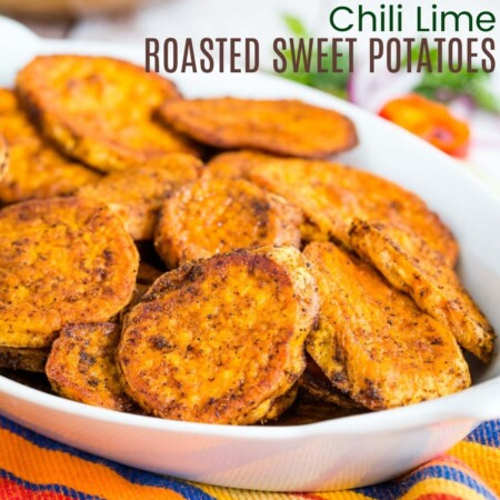 Chili Lime Roasted Sweet Potatoes square featured image