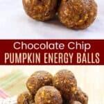 Chocolate Chip Energy Balls Pinterest Collage