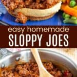 Easy Sloppy Joes Pinterest Collage