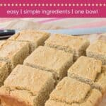 Gluten Free Apple Butter Cornbread Pin Template Dark