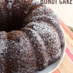 Gluten Free Chocolate Pumpkin Bundt Cake Recipe image with title