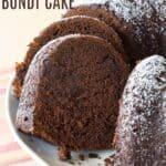 Gluten Free Chocolate Pumpkin Bundt Cake Recipe image with title
