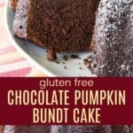 Gluten Free Chocolate Pumpkin Bundt Cake Recipe Pinterest Collage