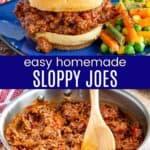 Homemade Sloppy Joes Pinterest Collage