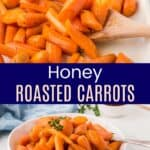 Honey Roasted Carrots Pinterest Collage