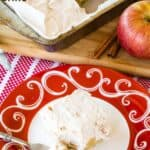 No Bake Gluten Free Apple Cheesecake Bars Recipe image with title