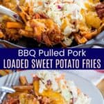 Pulled Pork Sweet Potato Fries Pinterest Collage