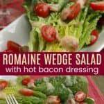 Romaine Wedge Salad Pinterest Collage