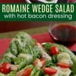 Romaine Wedge Salad Recipe Pinterest Collage