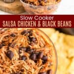 Slow Cooker Salsa Chicken and Black Beans Pinterest Collage