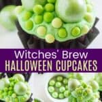 Witches Brew Halloween Chocolate Cupcakes Pinterest Collage