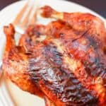 Balsamic Rosemary Roasted Chicken Recipe image with title