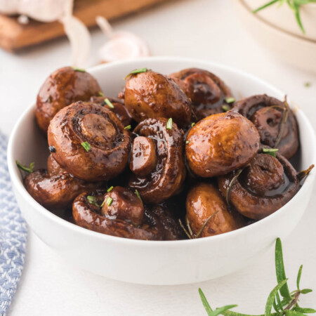 Bowl of Balsamic mushrooms