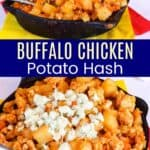 Buffalo Chicken Potato Hash Pinterest Collage