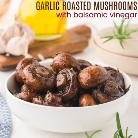 Garlic Roasted Mushrooms with Balsamic Vinegar square featured image
