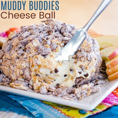 Muddy Buddies Cheese Ball square featured image