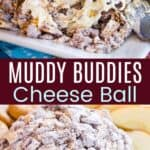 Muddy Buddies Cheese Ball Pinterest Collage