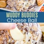 Muddy Buddies Cheese Ball Recipe Pinterest Collage