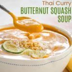 Thai Curry Butternut Squash Soup square featured image with title