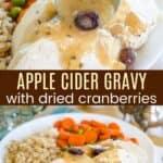 Apple Cider Gravy Pinterest Collage