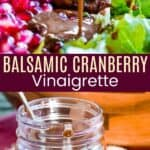 Balsamic Cranberry Vinaigrette Pinterest Collage
