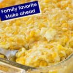 Corn Pudding Pin with Text