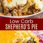 Low Carb Shepherds Pie Pinterest Collage