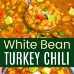 White Bean Turkey Chili Pinterest Collage