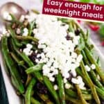 Balsamic Green Beans with Shallots and Cranberries
