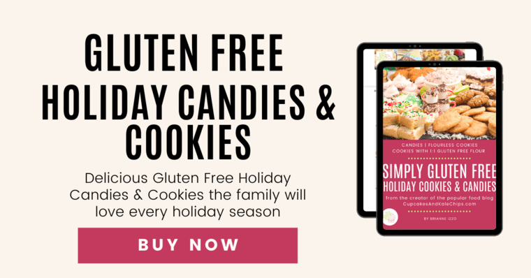 Tablet displaying cover of Simple Gluten Free Holiday Cookies and Candies eBook